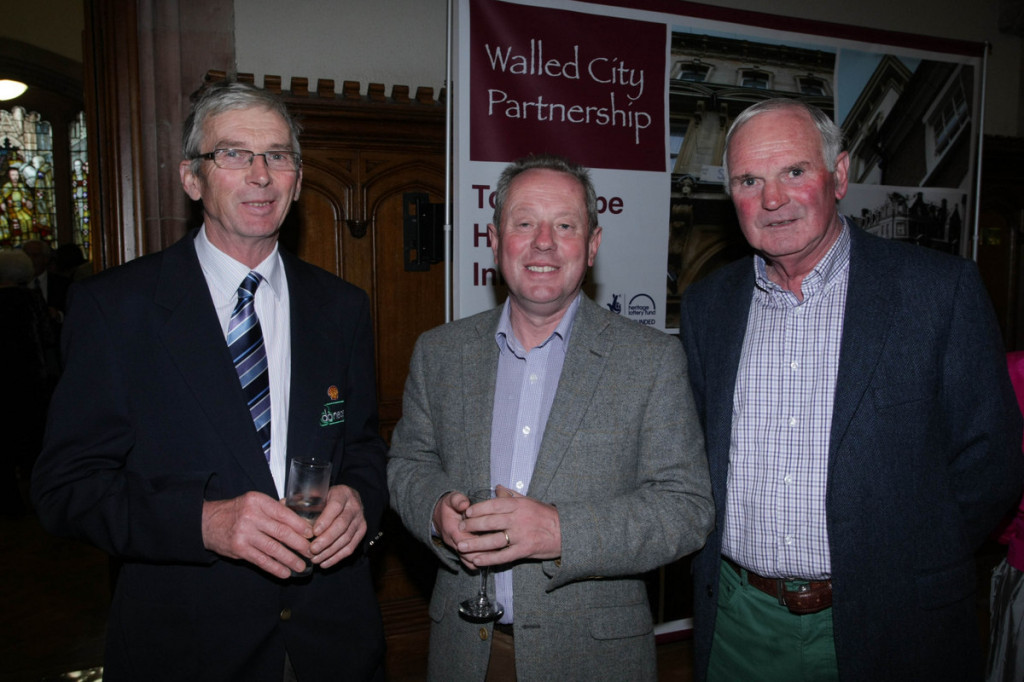 Michael Chance, Liam Campbell and John Carlin at Thursday night's dinner.